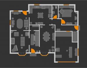 在draw.io中创建地图和平面图