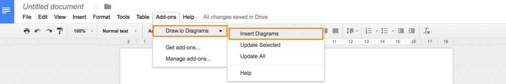 在Google文档中插入draw.io图