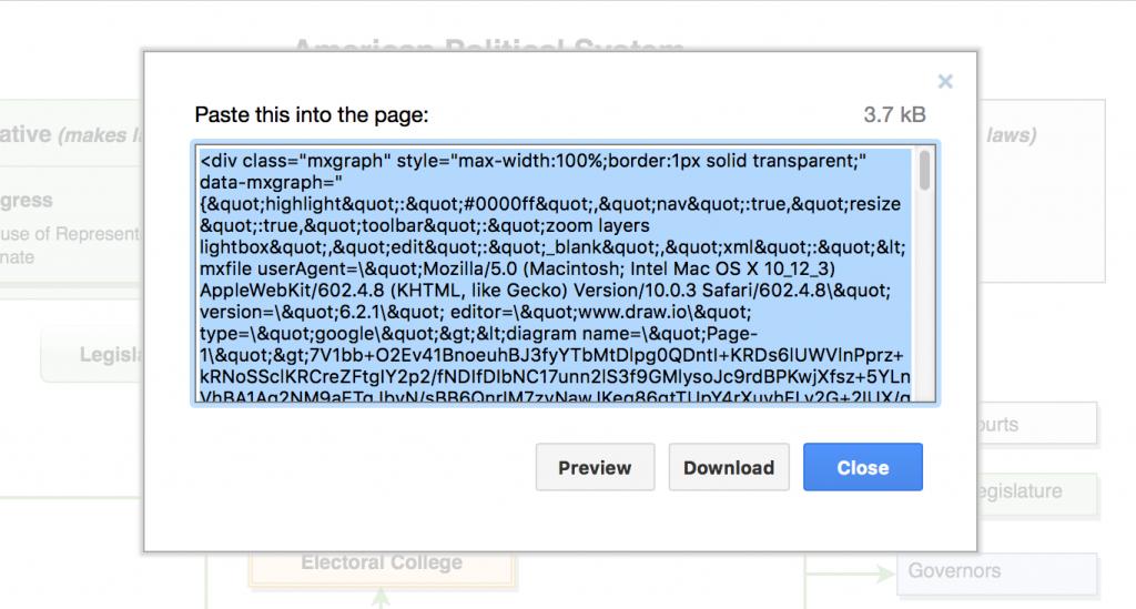 draw.io-在网页中嵌入图表的HTML