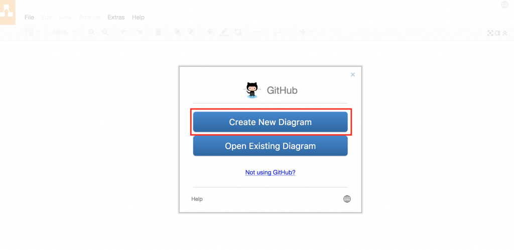 使用GitHub创建新的draw.io图