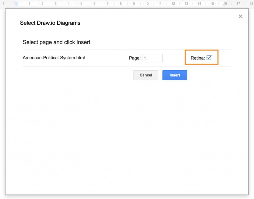 在Google文档中插入高质量的draw.io图