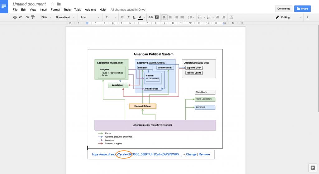 Google文档中的高分辨率draw.io图