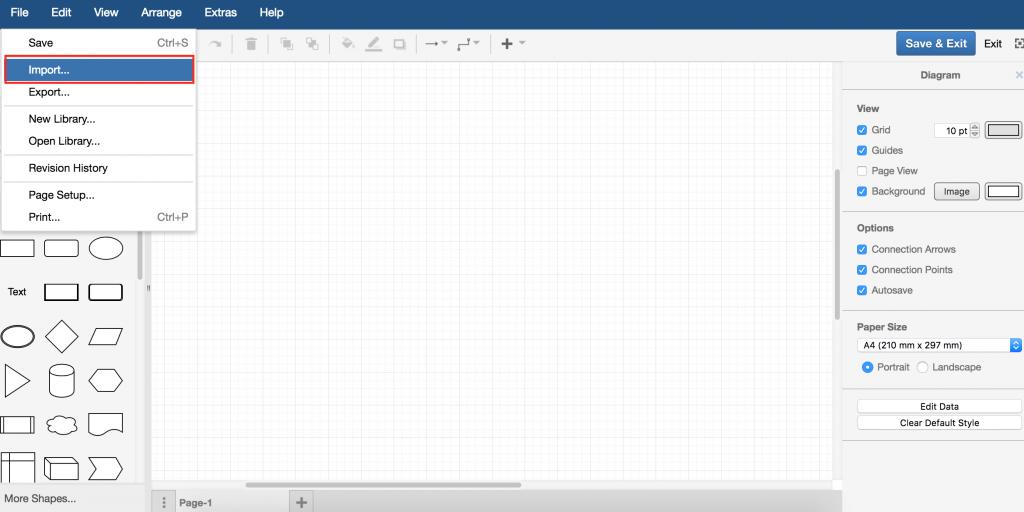 draw.io-导入文件