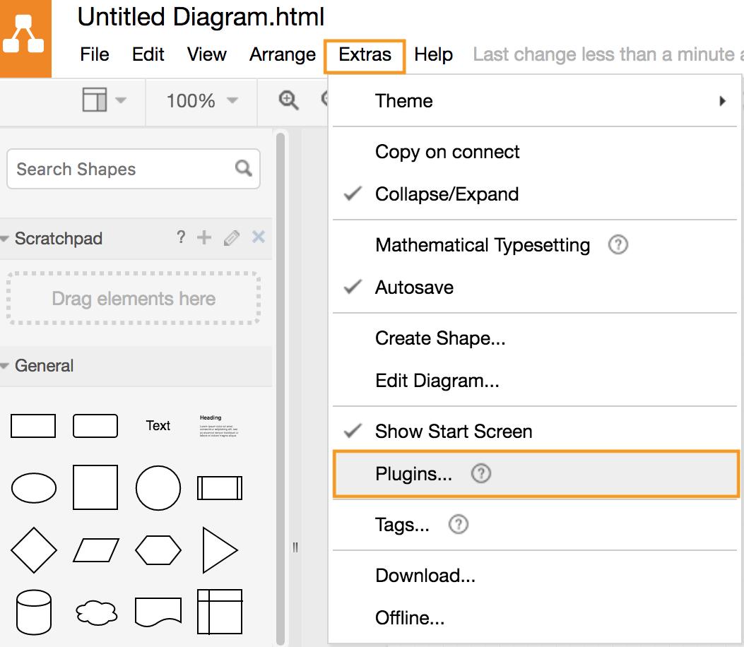 draw.io-通过菜单添加插件