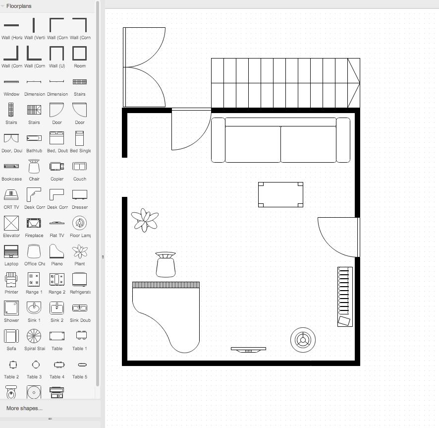 draw.io中的平面图示例